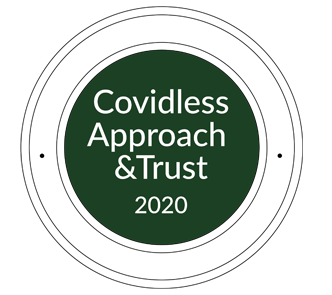 logo Covidless Approach&Trust